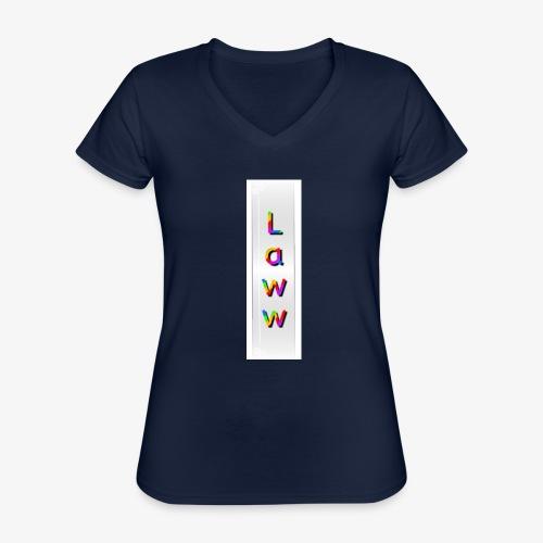 Colorlaww - T-shirt classique col V Femme