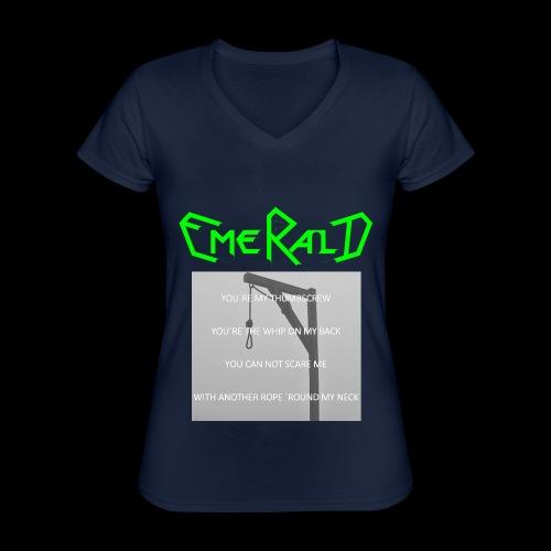 Emerald - Klassisches Frauen-T-Shirt mit V-Ausschnitt