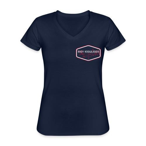 Bboy Knowledge 1st generation Logo - T-shirt classique col V Femme
