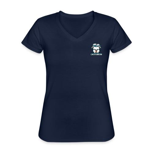 DICES909 V2 - Klassiek vrouwen T-shirt met V-hals