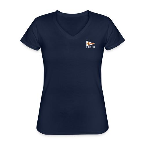 KYCK - classic navy - Klassisches Frauen-T-Shirt mit V-Ausschnitt