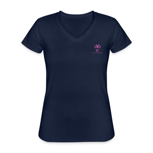 LF - Maglietta da donna classica con scollo a V