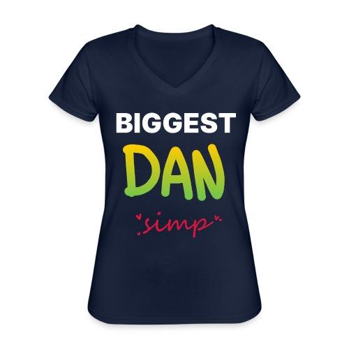 We all simp for Dan - Klassisk dame T-shirt med V-udskæring
