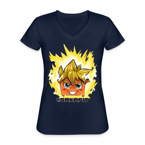 #sakaFIT Gelb - Klassisches Frauen-T-Shirt mit V-Ausschnitt