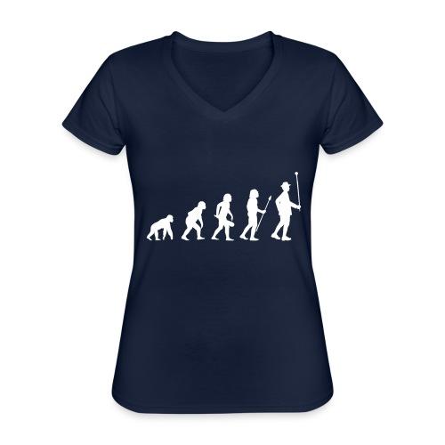 Evolution Stabführer weiß - Klassisches Frauen-T-Shirt mit V-Ausschnitt