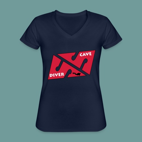 cave_diver_01 - T-shirt classique col V Femme