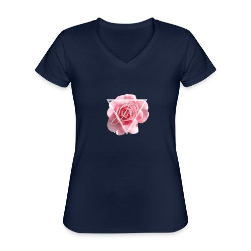 Rose Logo - Classic Women's V-Neck T-Shirt