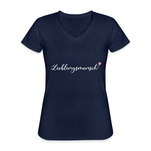 lieblingsmensch 01 - Klassisches Frauen-T-Shirt mit V-Ausschnitt