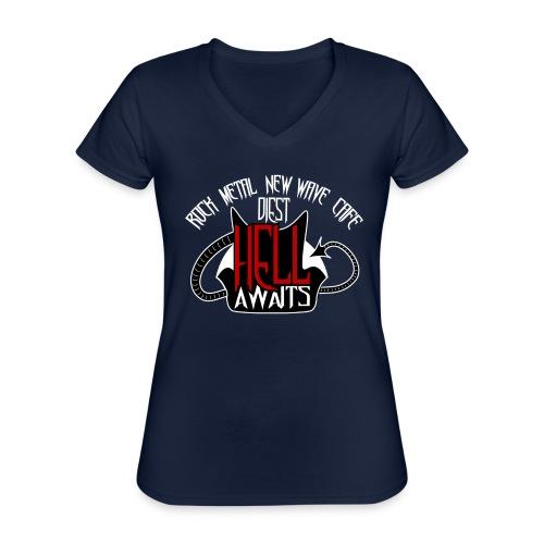 Hell Awaits - Klassiek vrouwen T-shirt met V-hals