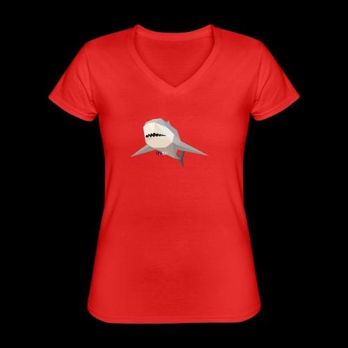 SHARK COLLECTION - Maglietta da donna classica con scollo a V