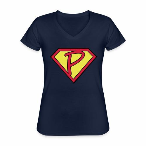 superp 2 - Klassisches Frauen-T-Shirt mit V-Ausschnitt