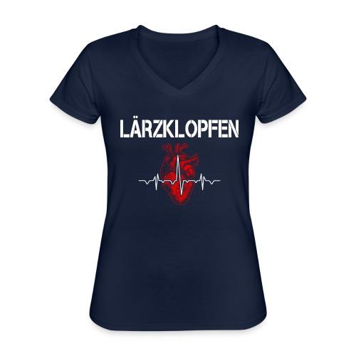 Lärzklopfen - Klassisches Frauen-T-Shirt mit V-Ausschnitt