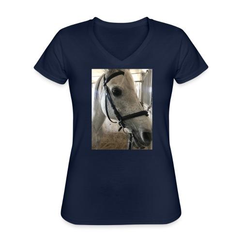 9AF36D46 95C1 4E6C 8DAC 5943A5A0879D - Klassisk T-skjorte med V-hals for kvinner