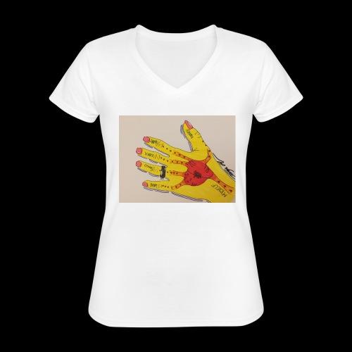 9D8D600F D04D 4BA7 B0EE 60442C72919B - Klassisk dame T-shirt med V-udskæring