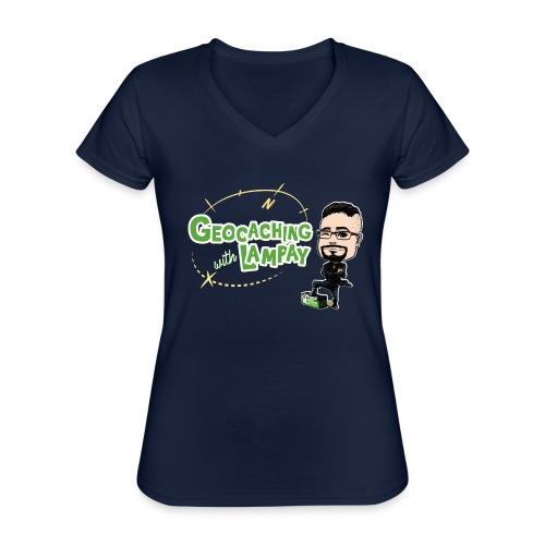Geocaching With Lampay - T-shirt classique col V Femme