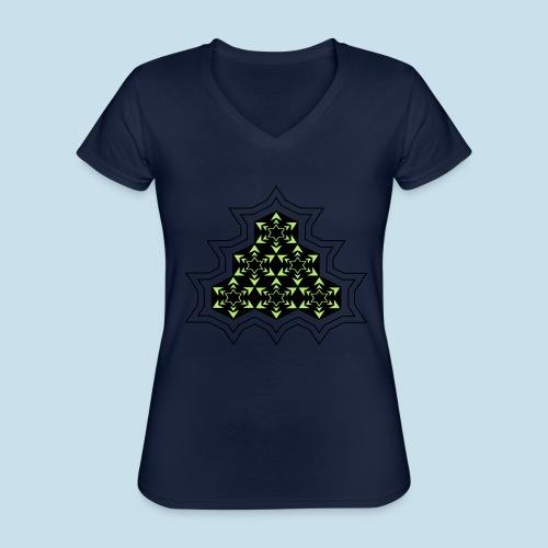 Stern - Klassisches Frauen-T-Shirt mit V-Ausschnitt
