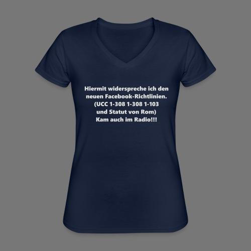 Facebook-AGB - Männer - Klassisches Frauen-T-Shirt mit V-Ausschnitt