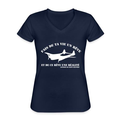 ta vie un rêve - T-shirt classique col V Femme