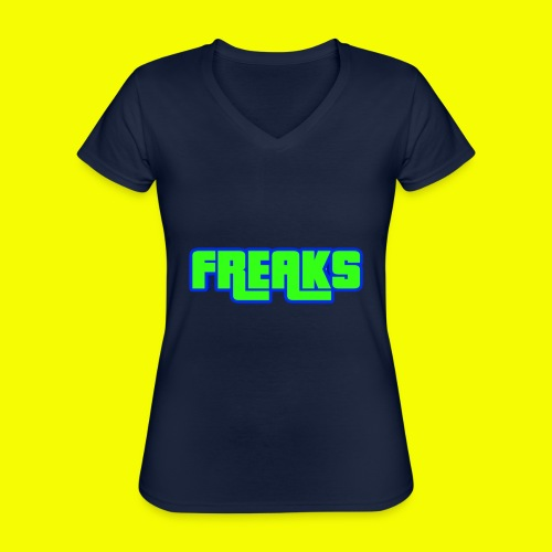 YOU FREAKS - Klassisches Frauen-T-Shirt mit V-Ausschnitt