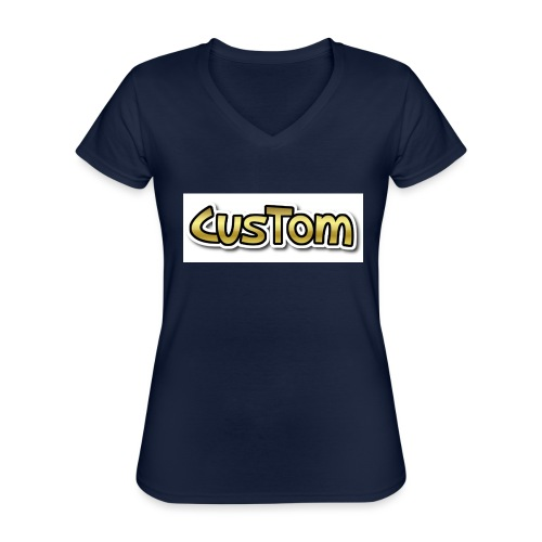 CusTom GOLD LIMETED EDITION - Klassiek vrouwen T-shirt met V-hals