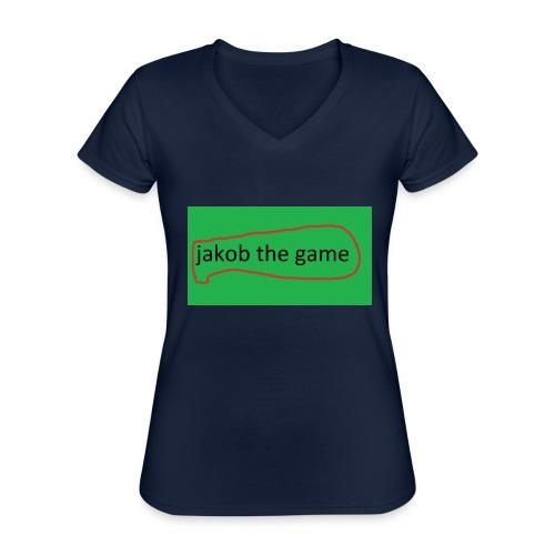 jakob the game - Klassisk dame T-shirt med V-udskæring