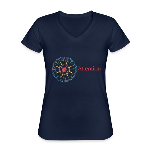 Attention - Classic Women's V-Neck T-Shirt