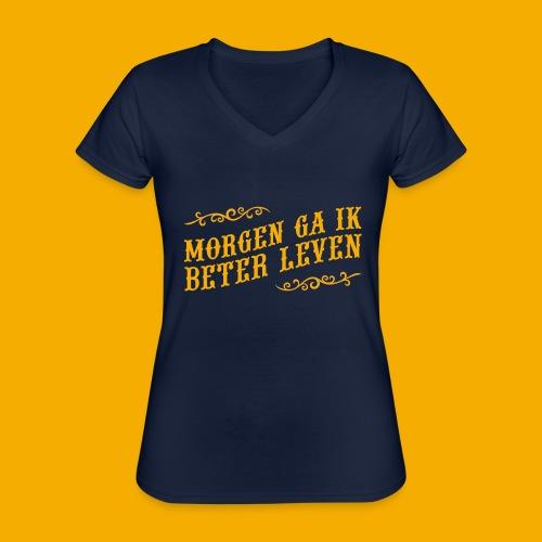 tshirt yllw 01 - Klassiek vrouwen T-shirt met V-hals