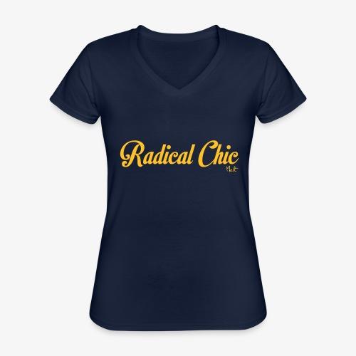 radical chic - Maglietta da donna classica con scollo a V