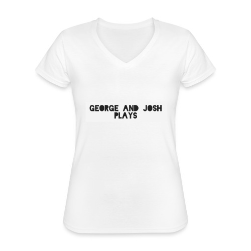 George-and-Josh-Plays-Merch - Classic Women's V-Neck T-Shirt