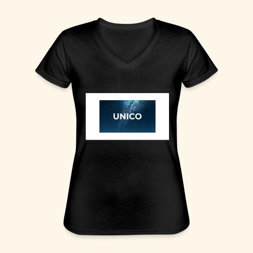 copertina canzone-unico - Maglietta da donna classica con scollo a V