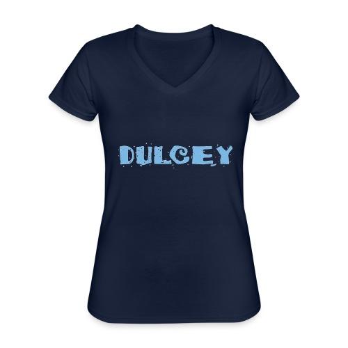 dulcey logo - Klassisches Frauen-T-Shirt mit V-Ausschnitt