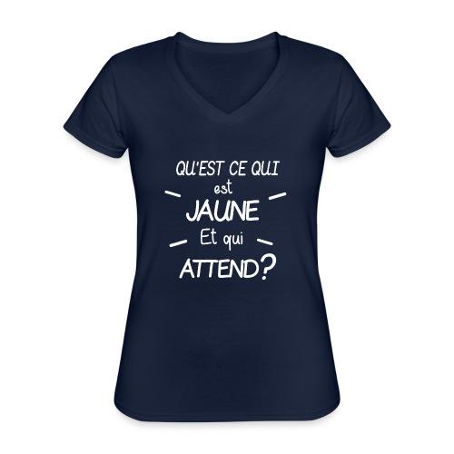 Edition Limitee Jonathan Black - T-shirt classique col V Femme