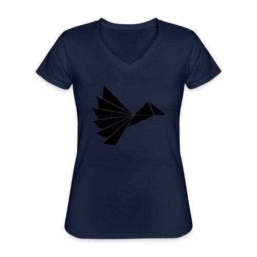 Noble Black Crow - Klassisk dame T-shirt med V-udskæring