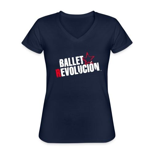 Ballet Revolución Logo - Klassisches Frauen-T-Shirt mit V-Ausschnitt