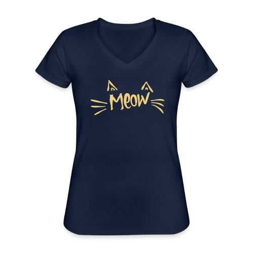 Vorschau: meow2 - Klassisches Frauen-T-Shirt mit V-Ausschnitt