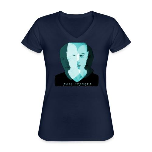 Front Man (turquise) - Klassisk dame T-shirt med V-udskæring