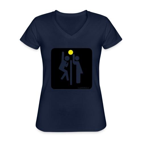 Toilet Volley - Maglietta da donna classica con scollo a V