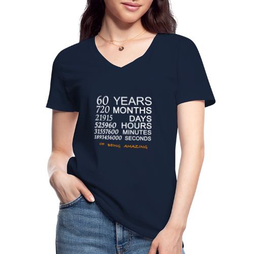 Anniversaire 60 years 720 months of being amazing - T-shirt classique col V Femme