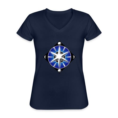 Blason elfique - T-shirt classique col V Femme
