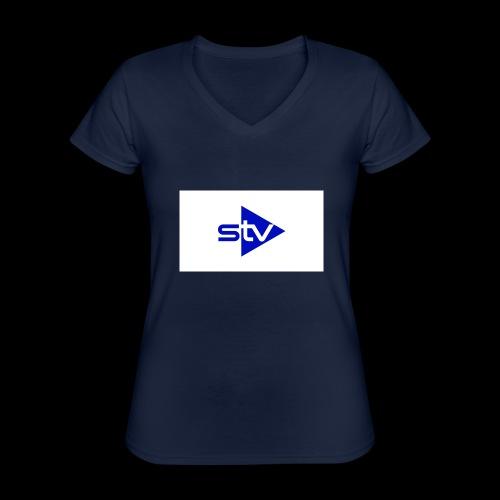 Skirä television - Klassisk T-shirt med V-ringning dam