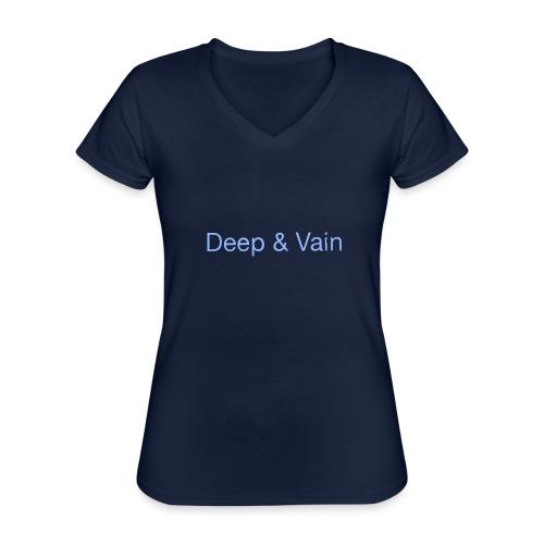 Deep&Vain Text Logo - Klassiek vrouwen T-shirt met V-hals