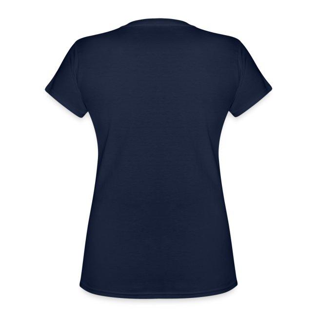 Vorschau: Ich arbeite hart - Katze - Klassisches Frauen-T-Shirt mit V-Ausschnitt