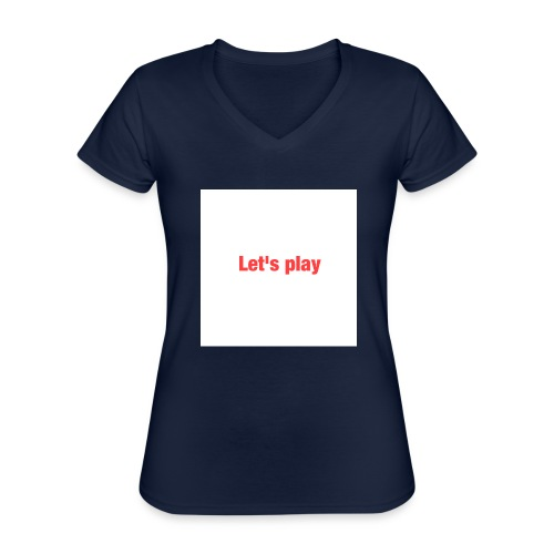 Let's play - Classic Women's V-Neck T-Shirt