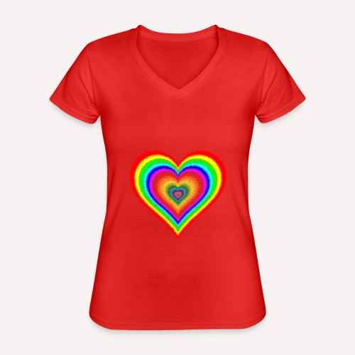 Heart In Hearts Print Design on T-shirt Apparel - Classic Women's V-Neck T-Shirt