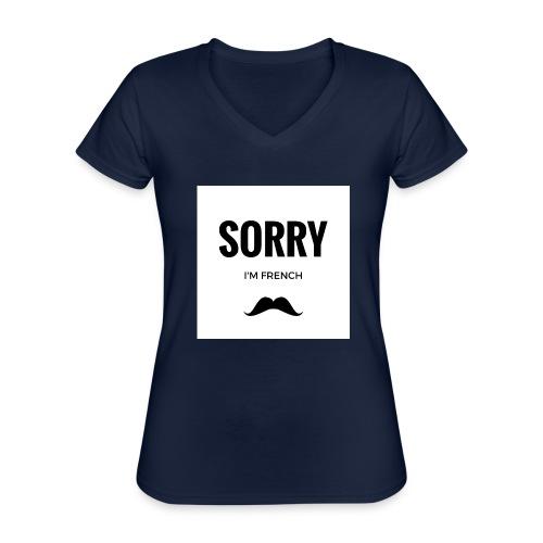 SORRY, i am french - T-shirt classique col V Femme