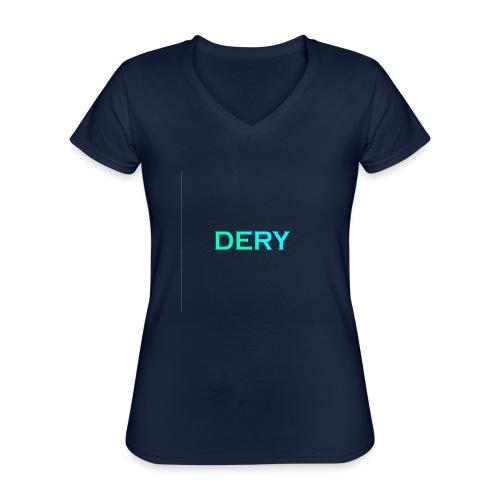 DERY - Klassisches Frauen-T-Shirt mit V-Ausschnitt
