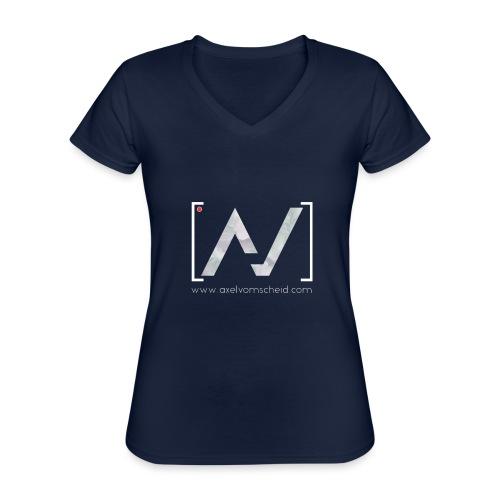 logoalpha blanc - T-shirt classique col V Femme