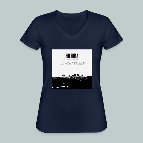 No more tra la la - Klassisk T-shirt med V-ringning dam