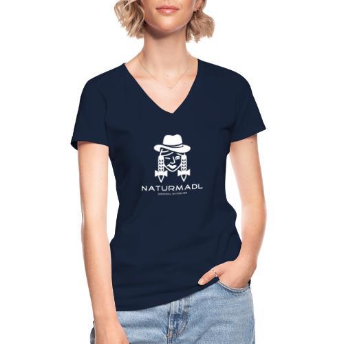 WUIDBUZZ   Naturmadl   Frauensache - Klassisches Frauen-T-Shirt mit V-Ausschnitt