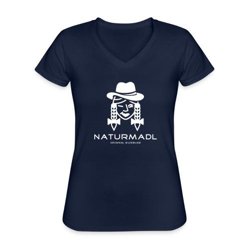 WUIDBUZZ | Naturmadl | Frauensache - Klassisches Frauen-T-Shirt mit V-Ausschnitt